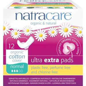 NATRACARE Menstruační vložky Ultra Extra Normal s křidélky 12 ks