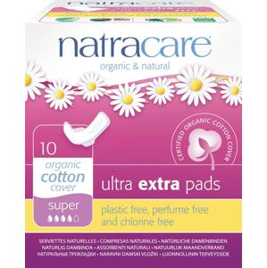 NATRACARE Menstruační vložky Ultra Extra Super s křidélky 10 ks