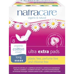 NATRACARE Menstruační vložky Ultra Extra Long s křidélky 8 ks