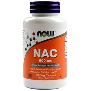NOW® Foods NOW NAC (N-Acetyl-L-Cystein) + Selen a Molybden 600 mg, 100 kapslí