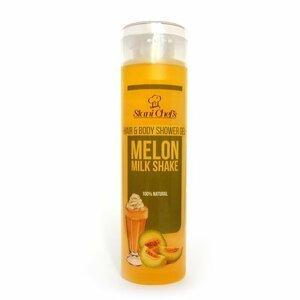 Hristina - Přírodní sprchový gel na vlasy a tělo melounový mléčný šejk, 250 ml