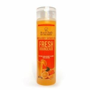 Hristina - Přírodní sprchový gel na vlasy a tělo čerstvá oranžáda, 250 ml