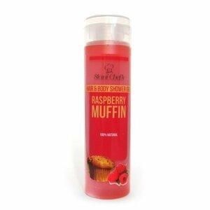 Hristina - Přírodní sprchový gel na vlasy a tělo malinový keks, 250 ml