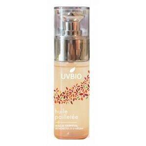 UVBIO - Suchý rozjasňující BIO olej se třpytivým efektem na tělo i vlasy, 50ml