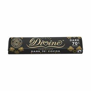 Divine Chocolate horká čokoládová tyčinka Ghana 70 %, 35 g