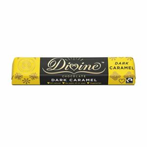 Divine Chocolate horká čokoládová tyčinka s karamelom 55 %, 35 g