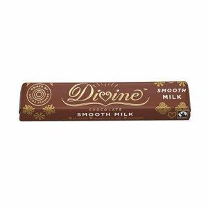 Divine Chocolate Mléčná čokoládová tyčinka Ghana 26%, 35g