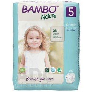BAMBO NATURE XL 5 (12-18 kg) detské plienky priedušné, 1x22 ks