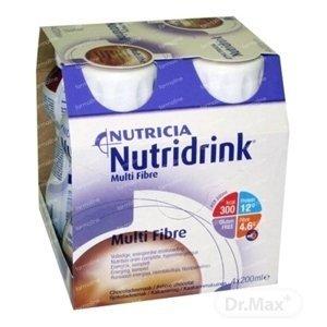 NUTRIDRINK MULTIFIBRE čokoládová príchuť 4x200 ml