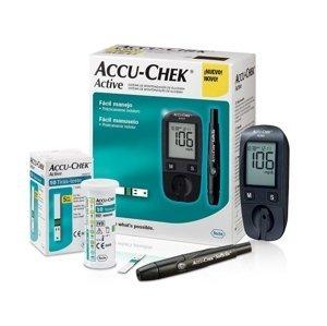 ACCU-CHEK Active Kit glukomer + príslušenstvo na monitorovanie glykémie, set