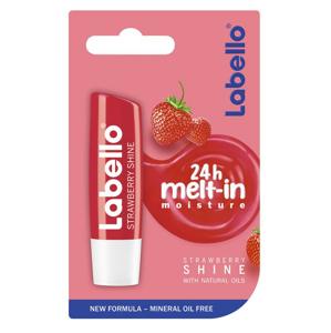 Labello Fruity Shine Jahoda výživný balzam na pery 4,8 g