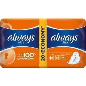 ALWAYS ULTRA NORMAL PLUS-DVOJBALENIE 20 1×20 ks, hygienické vložky (economy)
