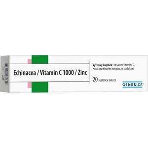 GENERICA Echinacea/Vitamin C 1000/Zinc 1×20 tbl, výživový doplnok
