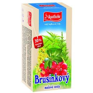 APOTHEKE BRUSNICOVÝ ČAJ NA MOČOVÉ CESTY 20×1,5 g (30 g), bylinný čaj
