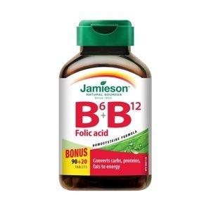 Jamieson Vitamín B6 + B12 + Folic Acid 110 tabliet