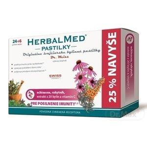 HERBALMED PASTILKY pre posilnenie imunity - Dr.W. 1×30 tbl, (echinacea, rakytník, 20 bylín, vit.C) pastilky 24+6 navyše