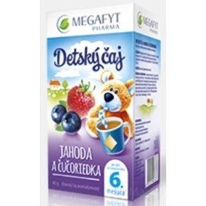 MEGAFYT Detský čaj JAHODA A ČUČORIEDKA inov.2015, ovocný čaj, 20x2 g (40 g)