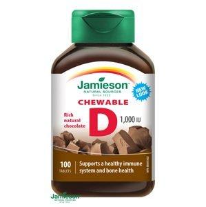 Jamieson Vitamín D3 1000 IU čokolády 100 tabliet