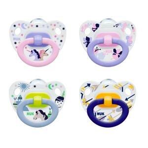 NUK CUMLÍK CLASSIC HAPPY DAYS V1-Silikón utišujúci, veľkosť 1 (0-6 mesiacov), rôzne farby, 1x1 ks