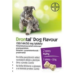 Drontal Dog Flavour 150/144/50 mg tablety 1×2 tbl, veterinárny prípravok