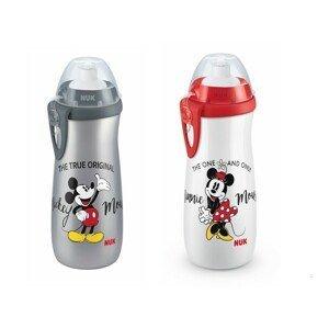 NUK dětská láhev Sports Cup Disney Cool Mickey šedá 450 ml