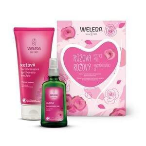 Weleda ružové ošetrujúca starostlivosť: Ružový pestujúci olej 100 ml + Ružový sprchový krém 200 ml darčeková sada