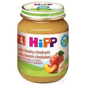 HiPP Príkrm 100% Ovocie Jablká, banány a broskyne 1×125 g, ovocný príkrm pre deti