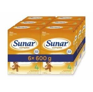 Sunar Complex 4 6×600 g, dojčenské mlieko, od 24. mesiaca
