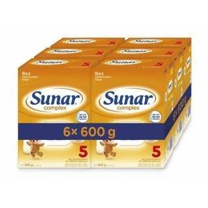Sunar Complex 5 6×600 g, dojčenské mlieko, od 36. mesiaca