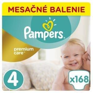 Pampers premium care - mesačné balenie S4 (9 - 14 kg) 168 kusov