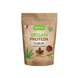 Kompava VEGAN PROTEIN 525 g - prášok, 100% rastlinný proteín, čokoláda a škorica