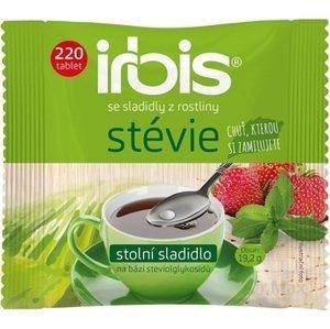 irbis stévia tbl (stolové sladidlo na báze glykozidov steviolu) náhradné balenie 1x220 ks