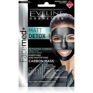 Eveline Cosmetics Matt Detox čistiaca hydratačná maska s aktívnym uhlím 8v1 2x5 ml