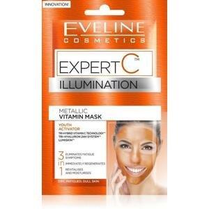 Eveline Cosmetics Expert C vitamínová maska na tvár krk a dekolt 3v1 2 x 5 ml