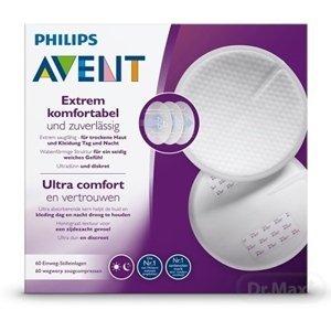 AVENT Ultra comfort PRSNÉ VLOŽKY jednorázové, absorpčné, laktačné, do podprsenky, 1x60 ks