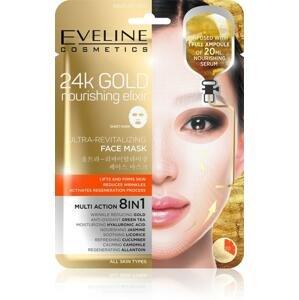 Eveline 24k Gold - Ultra oživující vyživující pleťová textilní maska s 24k zlatem 20 ml