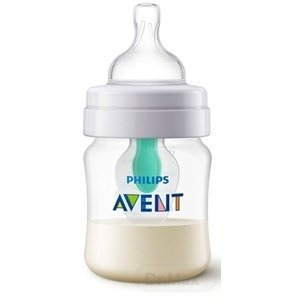 Avent dojčenská fľaša AntiColic s ventilom Airfree transparentná 125 ml