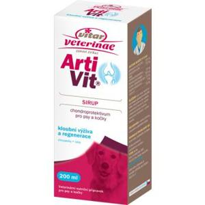 VITAR Veterinae Artivit Sirup 1×500 ml, výživa kĺbov pre psov a mačky