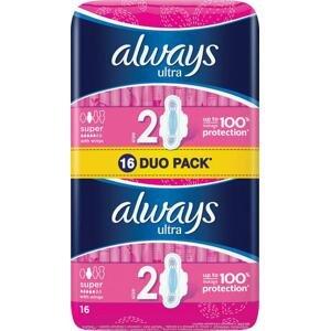 Always Duo Ultra Super Plus 16 ks