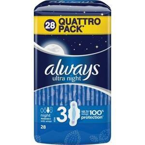 Always Ultra Night dámske vložky 28 ks