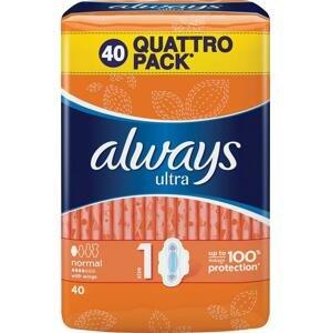 Always Ultra Normal Plus hygienické vložky 40 ks