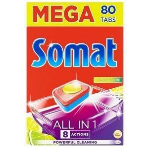 Somat MEGA All in 1 Lemon & Lime 80 kusov