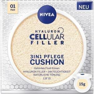 Nivea Hyaluron Cellular Filler 3v1 pečující tónovací krém make-up v houbičce 01 Světlý 15 g