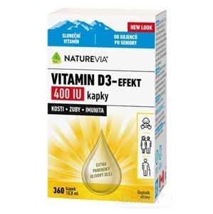 Swiss Naturvia Vitamín D3-EFEKT 400 I.U. kvapky 10,8 ml