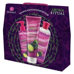 Dermacol Hrozno s limetkou Aroma Ritual sprchový gél 250 ml + tekuté mydlo 250 ml + pena do kúpeľa 500 ml darčeková sada