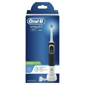 ORAL B Elektrická zubná kefka Vitality 100 Cross Action 1 kus - čierna