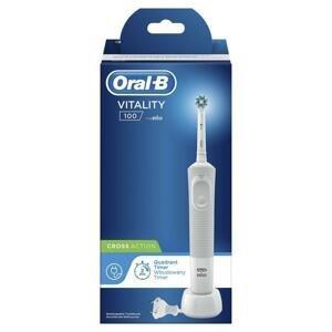 ORAL B Elektrická zubná kefka Vitality 100 Cross Action 1 kus - biela