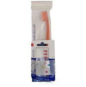 Curaprox CPS 07 prime refill červená + CS 5460 medzizubné kefky bez držiaka 8 ks + zubná kefka darčeková sada