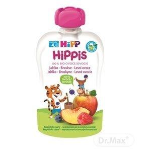 HIPP iS BIO 100% ovocia jablko Broskyňa Lesné ovocie 100 g