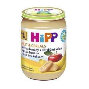 HiPP BIO Jablká a banány s detskými keksami od uk. 4. mesiaca 190 g